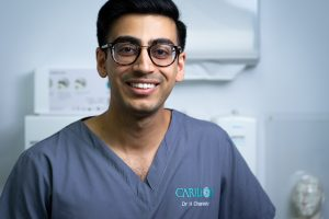 Dr. Hemal Charadva, our Implant dentist & Clinical Lead.